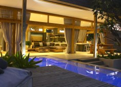 Vanilla View Pool & Room at Night