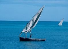 Dhow at sail in Bazaruto Archipelago