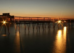 Flamingo Bay Water Lodge Sunset