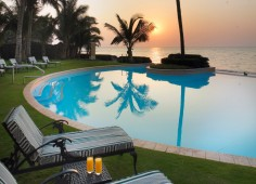 Southern Sun Maputo Pool At Sunset