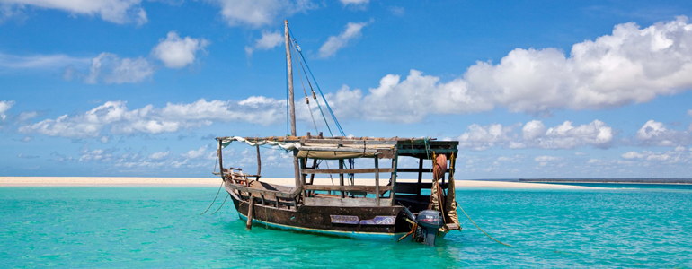 Dhow in Blue Water
