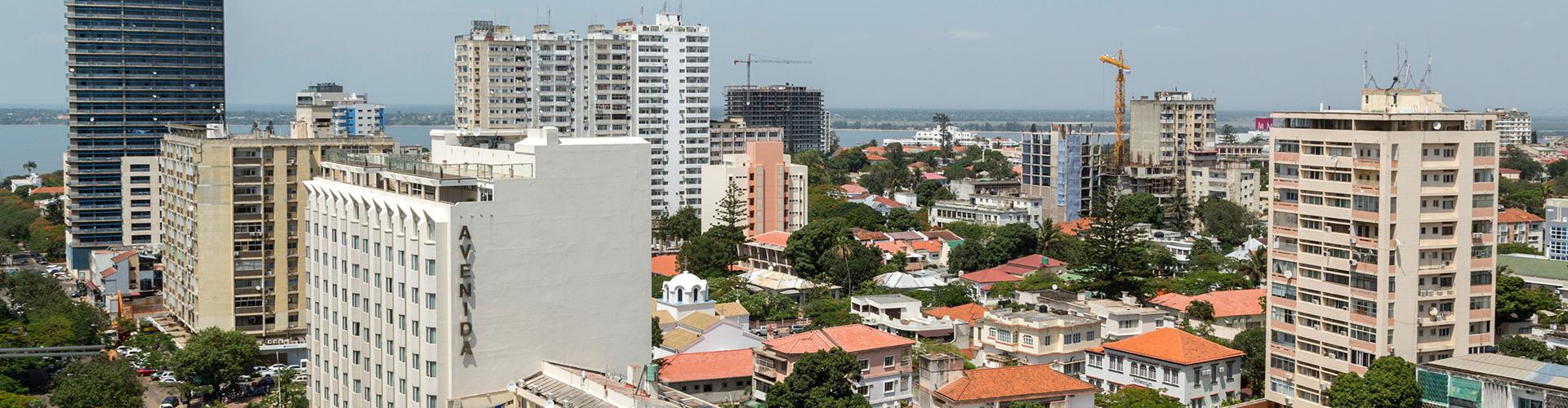 Aerial photo of Maputo