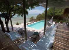 Azulik Lodge pool area